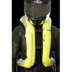 Nuevo Chaleco Airbag  electrónico e-Turtle Hi Vis Helite. Vista frontal inflado