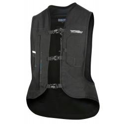Nuevo Chaleco Airbag  electrónico e-Turtle Negro Helite. Vista frontal