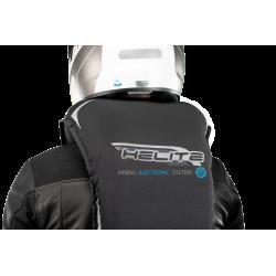 Nuevo Chaleco Airbag  electrónico e-Turtle Negro Helite. Detalle cuello inflado